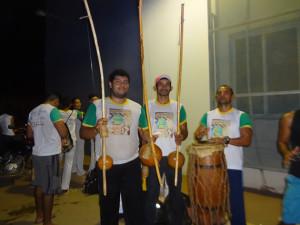 Ganhadores:Pedregulho (Viola), Macaco (Médio), Ozenilda (Receberá o Gunga) e Mestre Caimbé que foi pretigiar o evento.